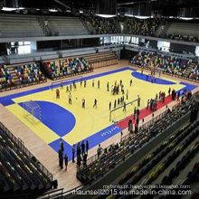 Assoalho de telha barato profissional do PVC para clube interno / exterior do handball