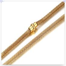 Collar de la manera de la joyería Cadena de acero inoxidable (SH039)