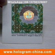 Kundenspezifisches heißes gestempeltes Papier Holographisches Aufkleber