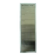 Placa magnética quadro de alumínio (superfície de aço inoxidável)