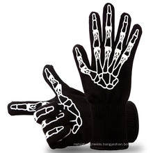 TE09 OEM accepted Green Color Heat Resistant Oven Gloves BBQ Gloves For Cooking, Grilling, Baking