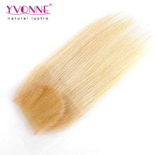 Color 613 Straight Hair Brazilian Lace Closure