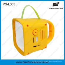 Iluminação ao ar livre Solar Camping lanterna recarregável com rádio FM PS-L065