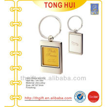 Metal Photo frame keychain/keyrings for promotion gifts