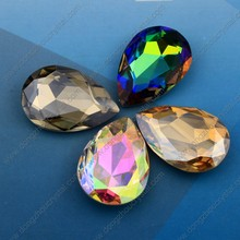 Crystal Teardrop Fancy Stones Beads para Jóias Beads