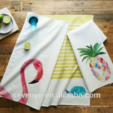 hight quality Flamingo pineapple kitchen tea towel TT-010