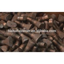 Aço de alta resistência e aço de baixo carbono T parafuso de revestimento