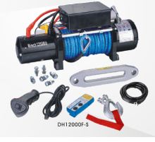 プルの能力の高い合成繊維ロープ 12000 ポンド電動ウインチ