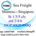 Service van de internationale Shiping van Shantou naar Singapore