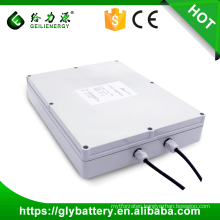 Long life rechargeable lithium ion solar battery pack 12v solar battery storage box