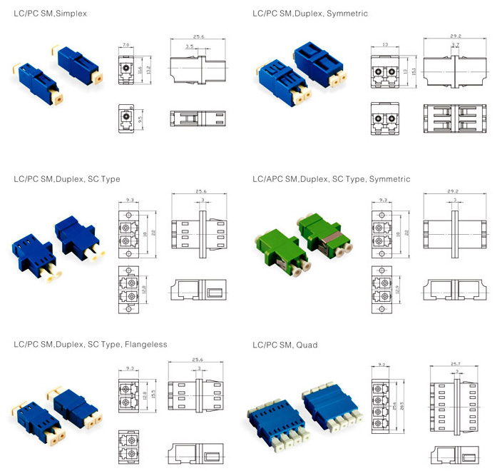 LC fiber optic adapters