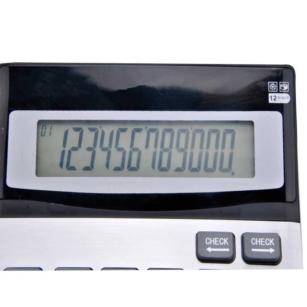 12 Digits Dual Power Check and Correct Desktop Calculator