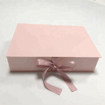 Pink Paper Folding Hair Packaging Kotak Hadiah
