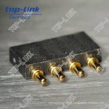 Conector de Pin Pogo Carregado por Mola (4 pinos, conector de bateria)