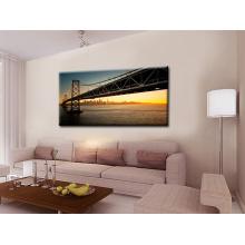 Pintura de paisagem da ponte