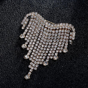 Venta al por mayor Crystal Rhinestone Queen Broche Pins
