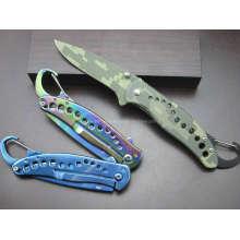 "7.6 ""Dekorative Muster Griff Camping Messer (SE-038)"