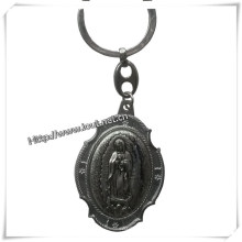Silver Virgin Mary Religion Metal Key Chain, Catholic Key Chain (IO-ck093)