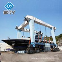 Grue de levage de petits et grands yachts d'ascenseur mobile de bateau