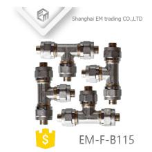 EM-F-B115 Chromed brass al-pex-al tee pipe fitiing