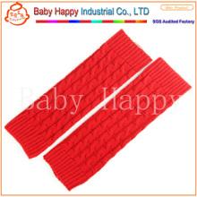 Оптовый красный новый стиль ребенка вязание крючком ноги грелка