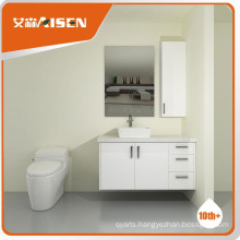 Fully stocked stainless steel bathroom vanity top cabinet