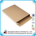brown kraft recycled box with tuck top for electronic packaging