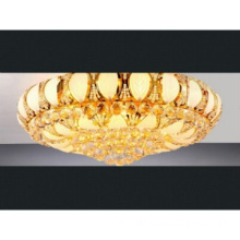 gold plated crystal ceiling light
