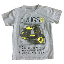 Camiseta 100% algodón niño en ropa infantil con estampado Sqt-602