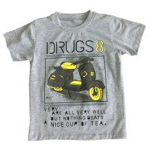 T-shirt do menino para a roupa das crianças com condução na qualidade macia Sqt-607