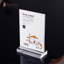 Excellent quality for for Acrylic Menu Holder Acrylic Ads Display Table Card/ Menu Holder supply to Cook Islands Exporter