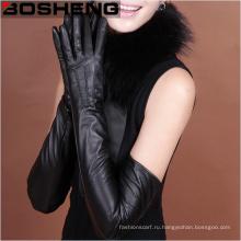 Дамская зима Полная перчатка из искусственной кожи с длинными рукавами