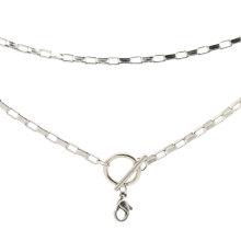 Fancy lange dünne Silberkette Halskette Designs, billige benutzerdefinierte Name Design Halskette