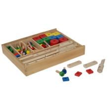 Madeira, construção, jogo, brinquedo, caixa