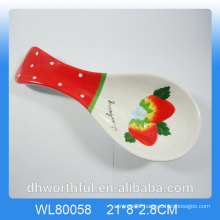Creative strawberry figurine ceramic spoon holder