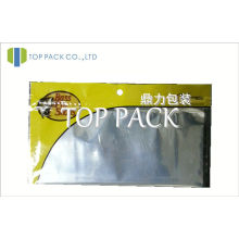 Yellow Clear Fishing Lure Zip Pouch Packaging With Foil Lined