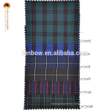 green tartan plaid cotton nylon fabric for shirting