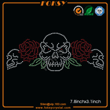 Skull Red Rose wholesale bling transfers