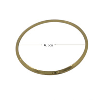 Anel de metal de pendurar personalizado grande ornamento de moda
