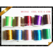 Alambre de acero, alambre colorido del alambre, joyería al por mayor, alambre de los alambres de la pulsera, fuentes de la joyería de los alambres (RF056)