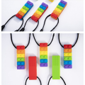 Custom Silicone Block Chew Necklace Toy
