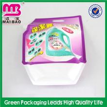 color personalizado y material 2015 envasado de surtidor de detergente de materia activa alta