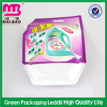 custom color and material 2015 high active matter detergent spout packaging