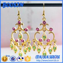 Mode handgemachte goldene Ohrringe Design