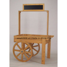 Holz-Display Cart