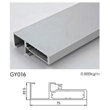 Perfil de armação de alumínio do armário de cozinha com puxar o punho