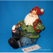 Resina Decorativa De Natal Papai Noel