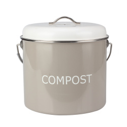Stainless Steel Countertop Kitchen Compost Bin