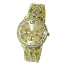 Women's Multifunctional Rose Goldtone Dial Watch Bling Watches