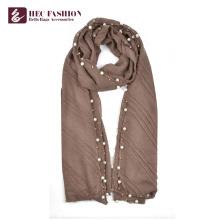 Bufanda de la tela escocesa del poliéster de la moda del comercio exterior de la venta al por mayor de HEC por toda la estación